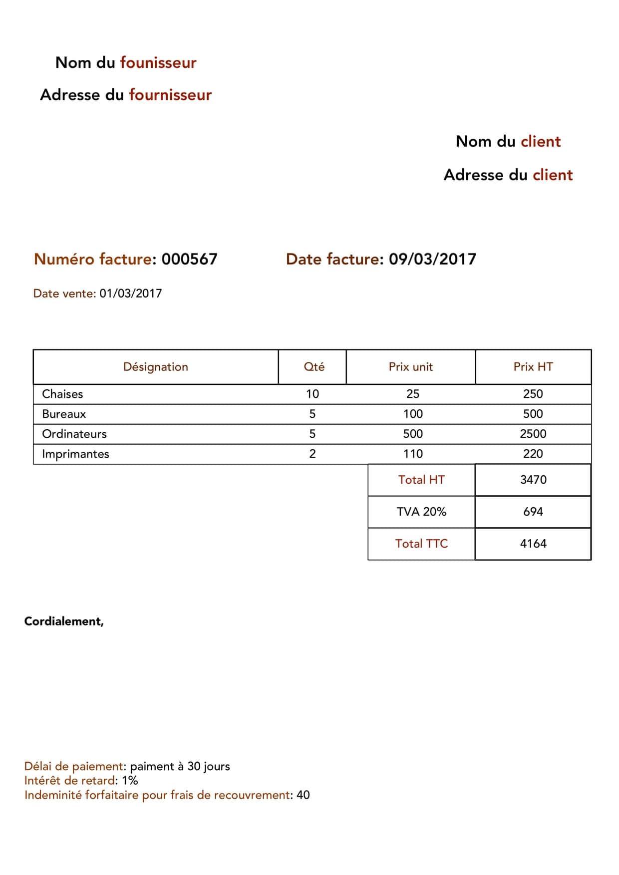 Formation comptable - Facture d'achat et de vente